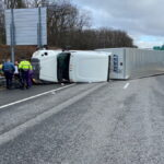 Mass Pike Ramp in Auburn Closed After Tractor Trailer Rolls Over