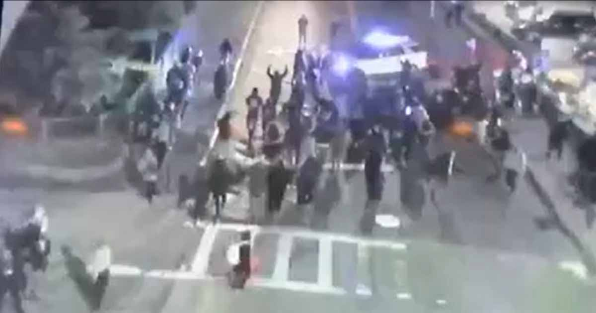 WATCH: Monday Night's Crowd Advances on Worcester PD Cruiser